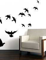 Wall Stickers Wall Decals Style Carved Bird Waterproof Removable PVC Wall Stickers