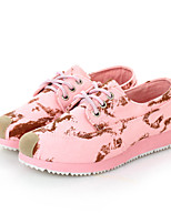 Women's Shoes Canvas Platform Comfort/Round Toe Fashion Sneakers Casual Blue/Pink/Beige