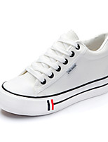 Women's Shoes Canvas Flat Heel Creepers/Round Toe Fashion Sneakers Office & Career/Casual Black