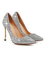Women's Shoes Glitter Stiletto Heel Pointed Toe Pumps/Heels Wedding/Dress Black/Blue/Red/Silver/Gold