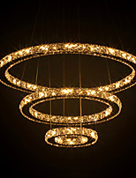Luxury LED K9 Crystal Pendant Light Ceiling Chandeliers Lighting Lamp Fixtures with 3 Rings D507090CM