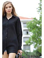 Women's White/Black Shirt Long Sleeve