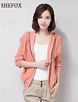 Women's Casual/Work Micro-elastic Medium Long Sleeve Cardigan (Knitwear) SF7A29