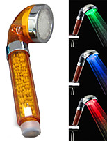 LED Temperature Detection ABS Color Negative Ion Shower Head (Automatic Color)