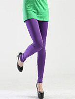 Women's Candy Solid Color Casual Leggings