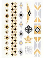 4PCS Flash Tattoo Gold Tattoo Metallic Tattoo Taty Tatouage Temporary Tattoo Sticker Metal Tatoo Fake Tatto New
