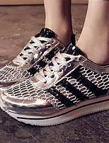 Scarpe Donna - Sneakers alla moda - Casual - Punta arrotondata - Piatto - Finta pelle - Nero / Giallo / Rosa