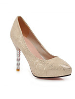 Women's Shoes  Stiletto Heel Round Toe Pumps/Heels Outdoor/Office & Career/Casual Blue/Pink/Beige