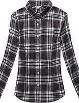 Women's Long Sleeve Check Blouse