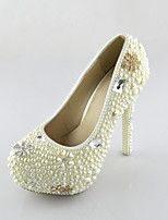 Women's Shoes Pearl Pumps Crystals Pumps/Heels Wedding/Party & Evening/Dress White