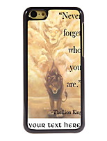 Personalized Gift Never Forger Who You Are Design Aluminum Hard Case for iPhone 5C
