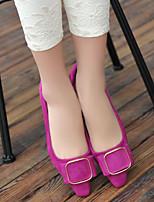 Women's Shoes  Kitten Heel Comfort/Pointed Toe/Closed Toe Flats Dress/Casual Black/Purple/Gray
