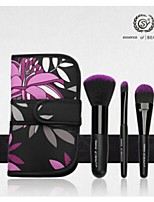 SY 3PCS Synthetic Hair Cosmetic Brush Set