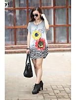 De las mujeres Camiseta Escote Redondo - Seda - Manga Corta