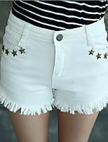 Women's Cute Star Rivet Demin Short Pants (Chiffon)