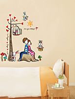 Stickers muraux murale de style de décalcomanies sous les amoureux des arbres pvc stickers muraux