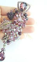 Women Accessories Gold-tone Purple Rhinestone Crystal Flower Brooch Art Deco Brooch Bouquet Women Jewelry