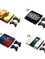 autoadesivo della pelle della copertura della decalcomania del vinile per PS3 Slim + 2 controller