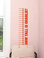 pegatinas de pared Adhesivos de pared, modernas altura Inglés engomadas de la pared del pvc stick
