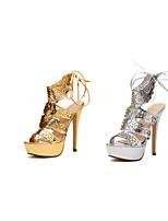 Women's Shoes Synthetic Stiletto Heel Heels Pumps/Heels Casual Silver/Gold