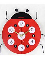 Modern/Contemporary Iron/Wood Round Wall Clock