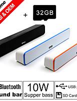 besteye® 32gb carte tf et G-807 10w hifi haut-parleurs de la barre de son fm aux stéréo bluetooth télécommande sans fil parle