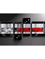 peinture à l'huile ensemble de 4 moderne abstrait, matériel de toile avec cadre étiré prêt à accrocher taille: 50 * 70cm * 70cm * 2pcs 25