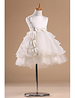 Flower Girl Dress - Stile Principessa Cocktail Senza Maniche Raso/Tulle
