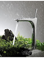Tall Single Handle Chrome Bathroom Sink Vessel Faucet Basin Mixer TapsBrass