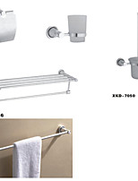Sets d'accessoire de salle de bain - Contemporain - Fileté - Fixation au Mur