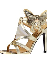 Women's Shoes Leather/Tulle Stiletto Heel Heels/Peep Toe/Pointed Toe Sandals Office & Career/Party & Evening