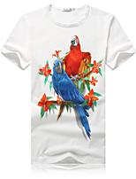 Katoen/Elastisch/Elasthaan - Print - Heren - T-shirt - Informeel/Grote maten - Korte mouw
