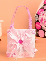 Nonwoven Fabric Baby Candy Favor Bags For Baby Shower Pink and Blue Set of 12
