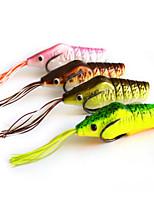 4PCS 75mm 15.5g Beak Shrimp Fishing Bait Random Colors