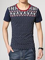 Men's Fashion Skull Print Slim Short Sleeved T-Shirts