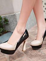 Women's Shoes Stiletto Heel Heels/Closed Toe Pumps/Heels Dress Blue/Red/White/Beige