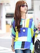 Women's Casual ½ Length Sleeve T-Shirts (Chiffon)