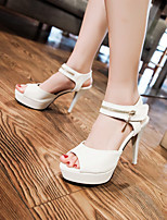 Women's Shoes Stiletto Heel Heels/Open Toe Sandals Dress Black/Pink/White