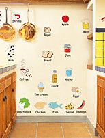 Food wall stickers Refrigerator decorative wall stickers