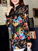 Women's Casual Micro-elastic Long Sleeve Long Blouse (Chiffon)