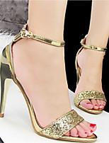 Scarpe Donna Finta pelle A stiletto Tacchi/Aperta Sandali/Scarpe col tacco Casual Multicolore