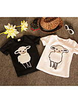Girls Cute Lamb Beading T-shirt