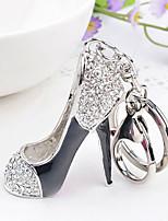 Rhinestone Creative High-heeled Shoes  Key Chain Ring Keyring