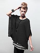 Women's Casual Micro-elastic Short Sleeve Long T-shirt (Chiffon)