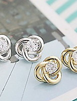 Fashion Silver-Plated Stud Earrings