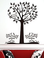Wall Stickers Wall Decals Style Black Tree White Pigeon PVC Wall Stickers