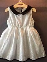 2015 Summer Girls Floral Lapel Dress