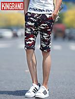 Men's Casual/Sport Print Shorts Pants (Cotton Blend) KB6D15
