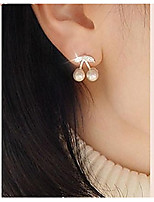 Cute Little Cherry Pearl Stud Earring