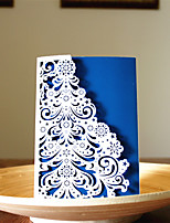 1pcs 3 Colors Laser Cut Snow Tree Christmas Greeting Card Party Invitaion Card Christmas Tree Decoration